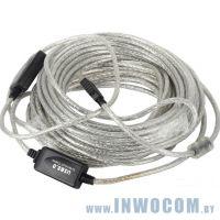 Кабель активный USB 2.0-repeater A - A VCOM (VUS7049-20м) 20м
