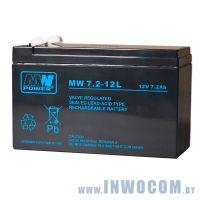 MW 7.2-12L (12V,7.2Ah) для ИБП