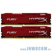 16Gb (2x8Gb) PC-21300 DDR4-2666 Kingston HyperX Fury HX426C16FR2K2/16 Red CL16