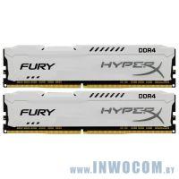 16Gb (2x8Gb) PC-21300 DDR4-2666 Kingston HyperX Fury HX426C16FW2K2/16 White CL16