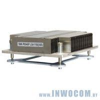 Радиатор S-1150 (SNK-P0046P) 1U (1155, радиатор без вентилятора, Al+тепловые трубки)