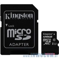 SDHC-micro Card 128GB Kingston Class 10 SDCS/128GB Canvas Select + adapter