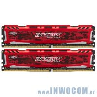 16GB DDR IV KiTof2 PC-19200 2400MHz Crucial Ballistix (BLS2C8G4D240FSE)