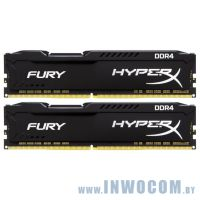 16GB DDR IV KiTof2 PC-21300 2666MHz Kingston HyperX Fury (HX426C16FB2K2/16) Black CL16 1.2V RTL