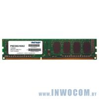8Gb PC-12800 DDR3-1600 Patriot PSD38G16002