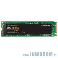 SSD Samsung 860 EVO 1Tb (MZ-N6E1T0BW) Буфер: 1024 Мб  550 Мб/с  520 Мб/с RTL