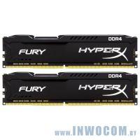 16GB DDR IV KiTof2 PC-25600 3200MHz Kingston HyperX Fury (HX432C18FB2K2/16) Black CL18 1.2V RTL